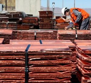 El cobre en su nivel más bajo desde 2008