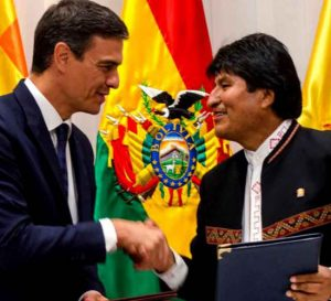 Bolivia y España suscriben acuerdos de financiamiento